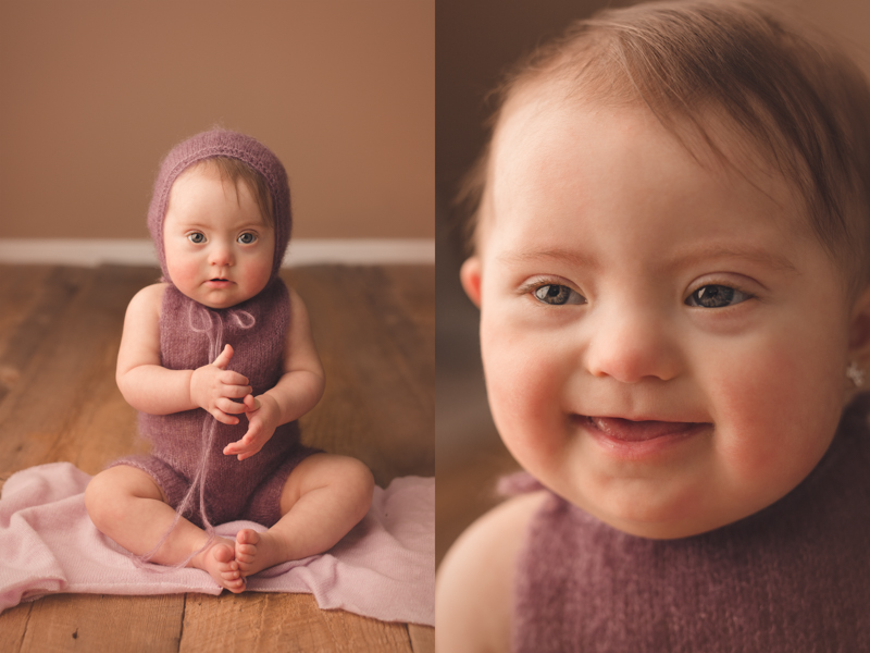 photography session of baby with down syndrome